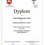 Dyplom dla FRUX SOLIS - domowa konfitura z wiśni
